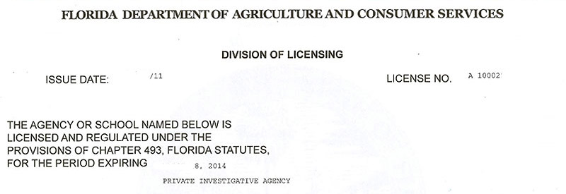 Florida private investigator license test